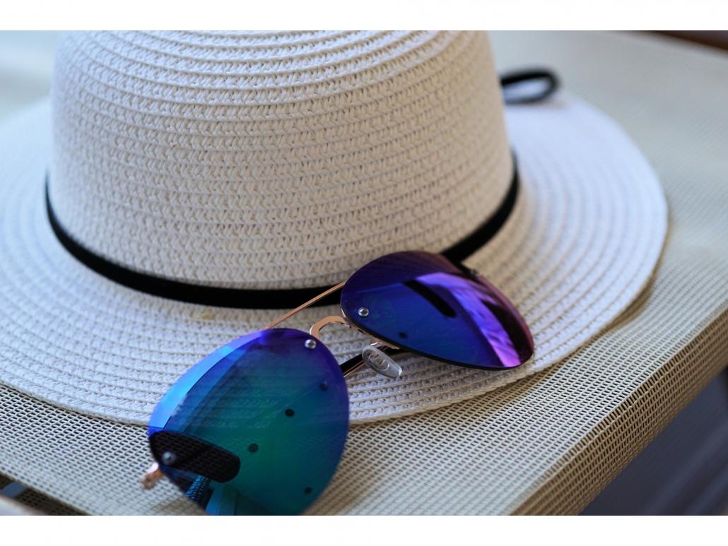 Hut, Sonnenbrille